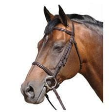 Caldene Bridle Plain Raised C/w Plain Reins - Small Pony / Havana
