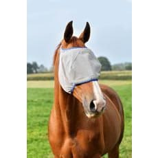 Equilibrium Field Relief Midi Fly Mask - Xxsmall / Grey/blue / Without Ears