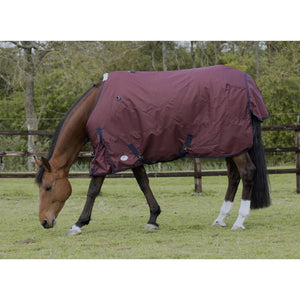 Jhl Essential Turnout Rug Mediumweight - 5 6 / Burgundy/navy