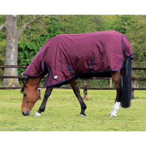 Jhl Essential Turnout Rug Mediumweight Combo - 5 6 / Burgundy/navy