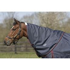 Jhl Turnout Rug Lightweight Plus Neck Cover - Small / Navy/burgundy/white