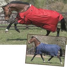 Jhl Turnout Rug Lightweight Red/navy