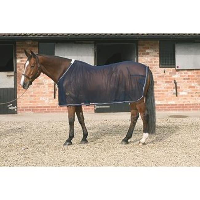Mark Todd Cooler Rug Mesh - 5 6 / Navy/silver