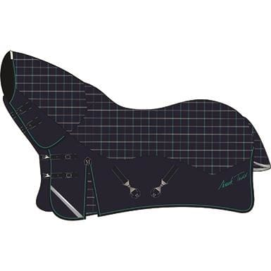 Mark Todd Turnout Rug Heavyweight Combo - 5 6 / Navy/jade/beige Plaid