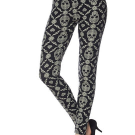 Mandala Skull Leggings