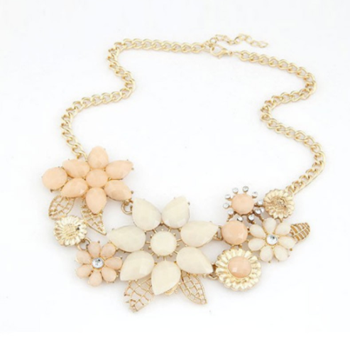 Flower statement necklace andreas extras flower statement necklace mightylinksfo