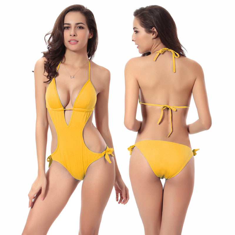 One Piece Bikini Swimsuit for Women Sexy Paded Swimwear Push Up Swim Suit for Beach Swimming Pool Party