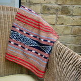 Red Mayan Throw