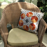 White Olvino with Alpaca cube design hand embroidered cushion cover