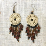 White Waorani Earrings