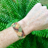 Waorani handmade all natural eco Amazon made string bracelet