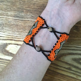 Handmade Ashenínka bracelets from Saweto in Peru, in association with the Rainforest Foundation