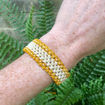 Yellow and White String bracelet