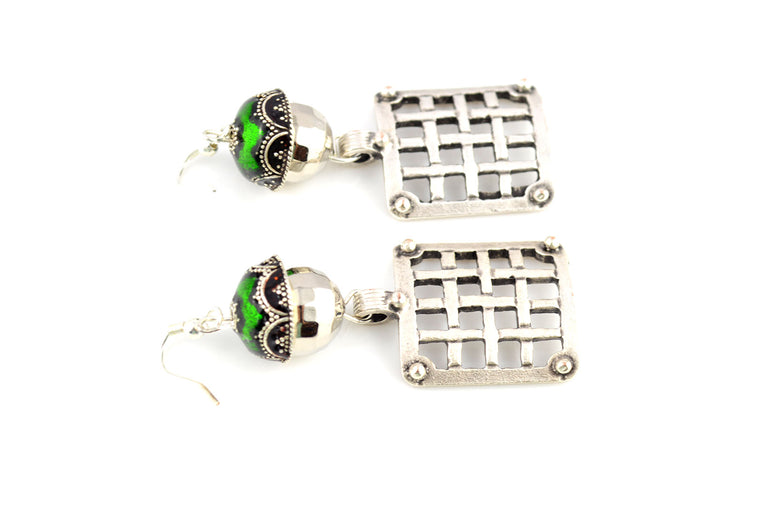 Antique Silver Dangler Earrings
