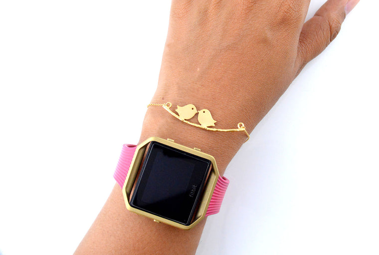 Gold Plated Birds Connector Dainty Bracelet