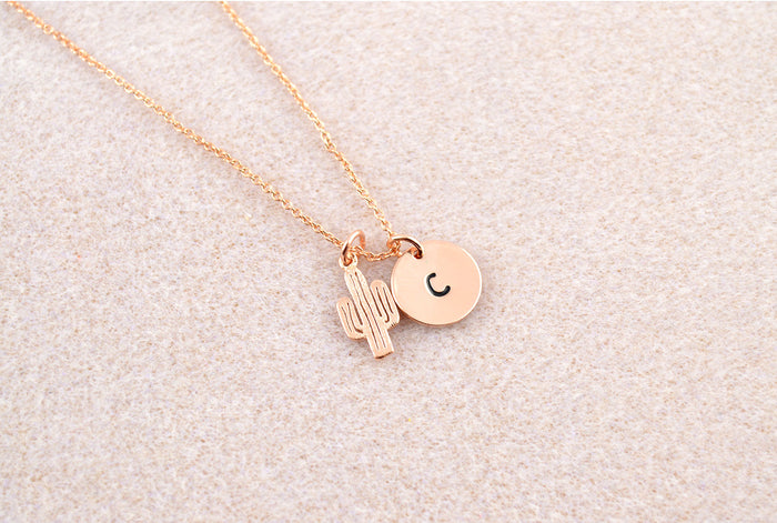 Personalised Cactus Necklace