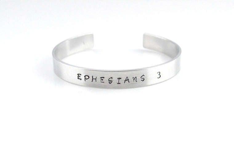 Personalised Christian Cuff Bracelet