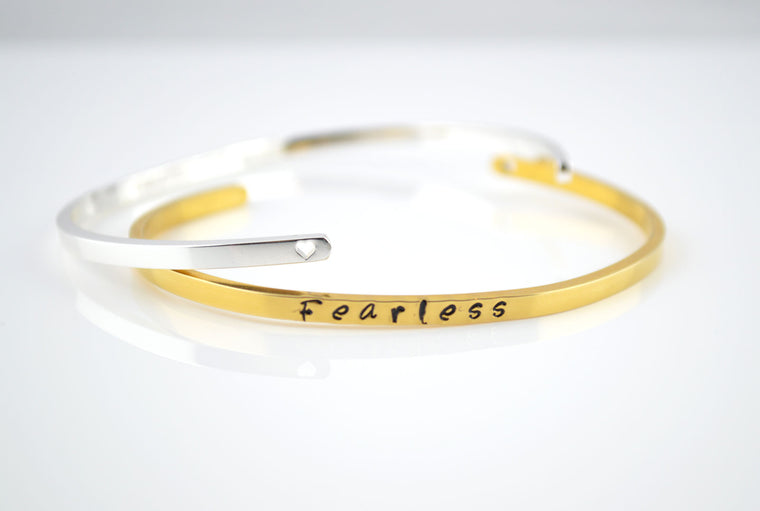 Personalised Slim Cuff Bracelet - Gold
