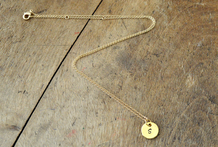 Personalised Name Initial Gold Plated Necklace