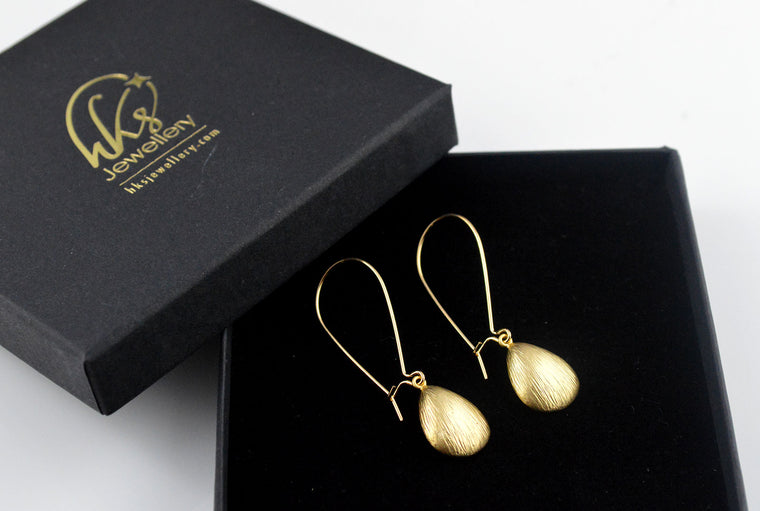 Matt Shell Gold Plated Earrings