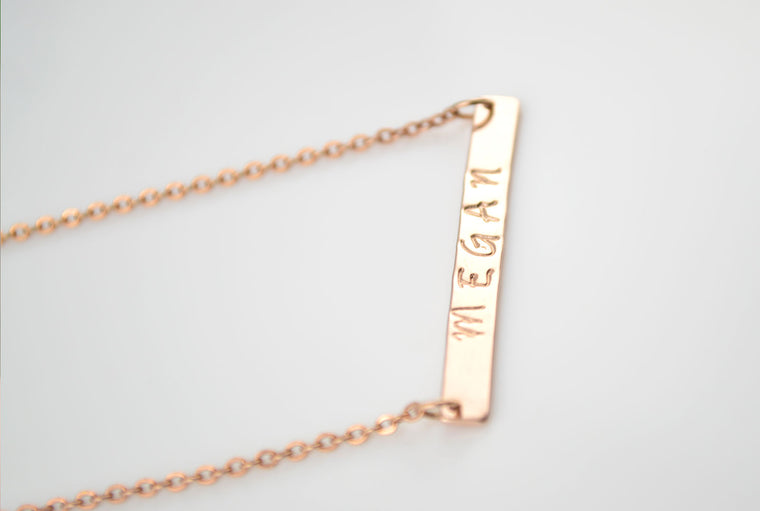 Personalised Name Necklace - Rose Gold Plated
