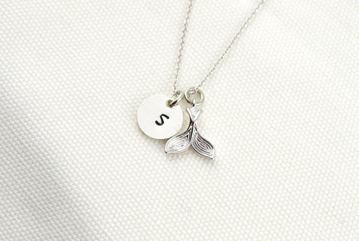 Mermaid Necklace, Silver Necklace, Mermaid Jewelry, Mermaid Tail, Beach Necklace, Charm Necklace, Mermaid Party, Mermaid Accessories