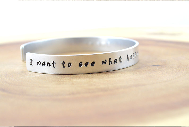 Positive Encouraging Personalised Cuff Bracelet - Mens Jewellery