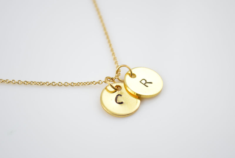 Gold Plated Name Initial Letter Minimalist Necklace