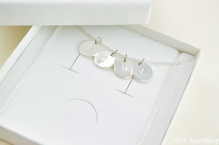 Name Initial Silver Necklace