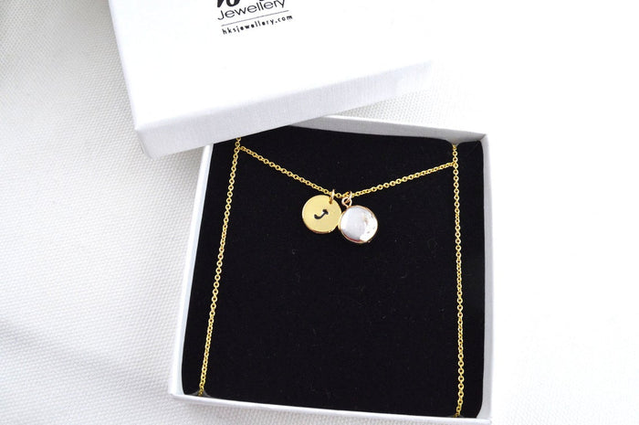 Natural Keshi Pearl Gold Necklace