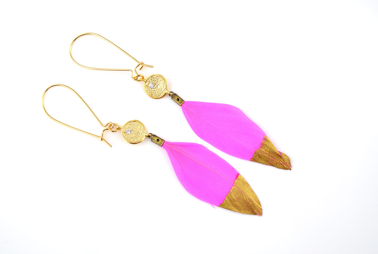 earring pink ball s francesca in bauble product npink neon cl drop earrings do clarissa