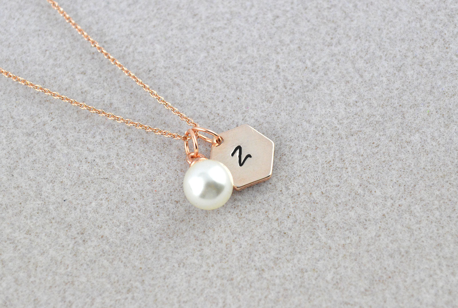 Personalised Rose Gold Dainty Chain Name Initial Necklace