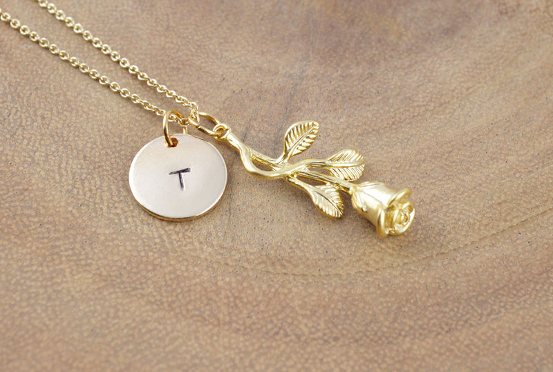 Personalised Flower Name Necklace