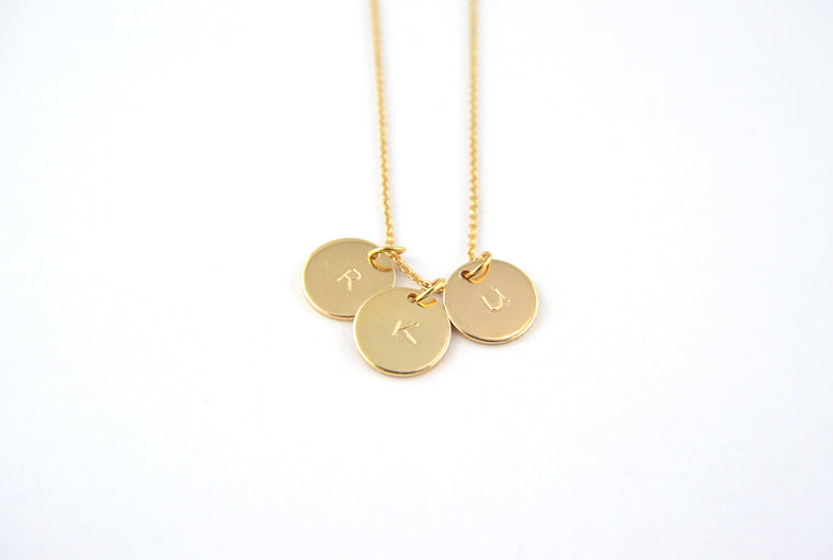 Personalised Gold Plated Disc Necklace