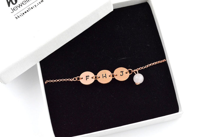 Rose Quartz Slider Adjustable Rose Gold Bracelet