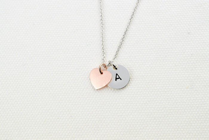Heart Necklace, Everyday Disc Necklace