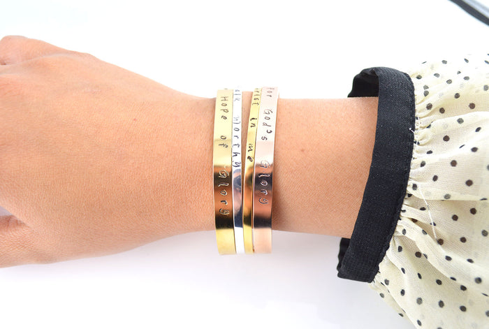 Personalised Slim Cuff Bracelet - Be Different