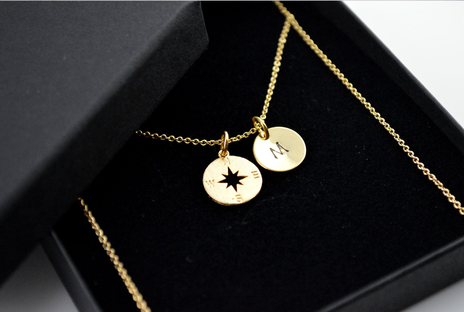 Wanderlust Compass Necklace - Personalised Gold Jewellery
