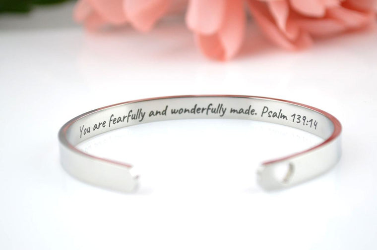 Christian Cuff Bracelet - Psalms 139