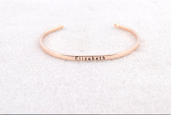 Dainty Cuff Rose And Gold Bracelet