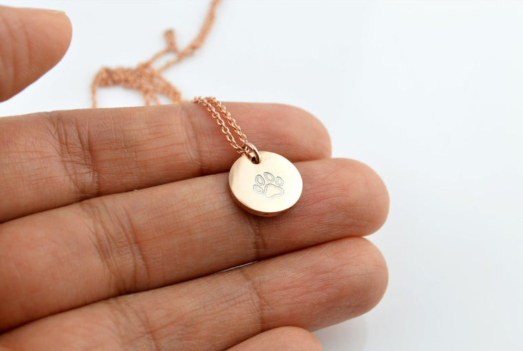 Dog Lover Paw Print Necklace