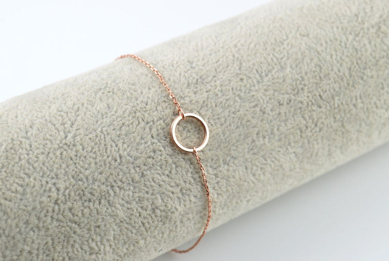 Rose Gold Karma Necklace