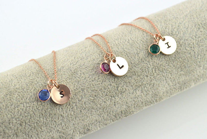 Birthstone Rose Gold Necklace