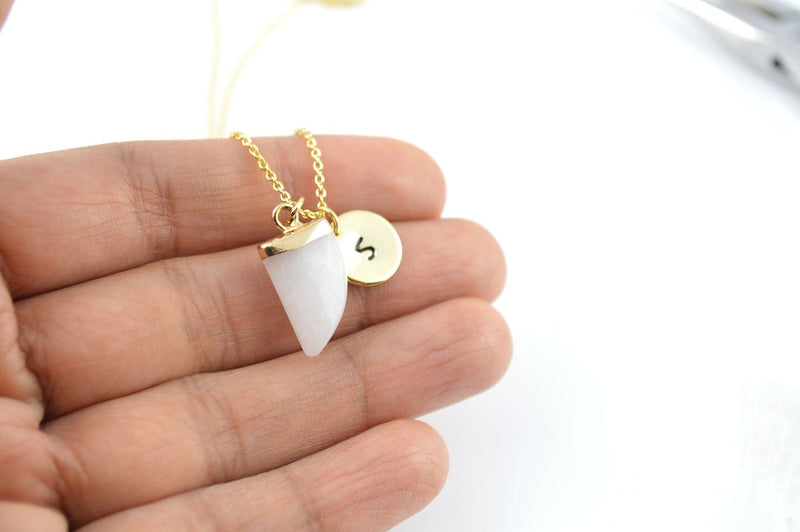 White Jade Personalised Necklace