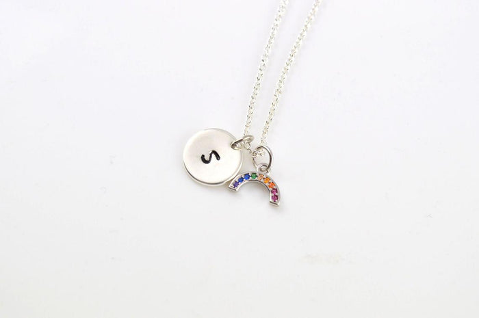 Rainbow Gold Personalised Necklace