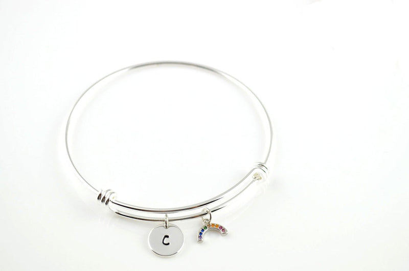 Rainbow Personalised Bangle