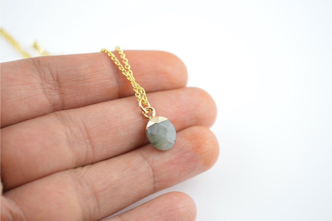 Labradorite Personalised Necklace