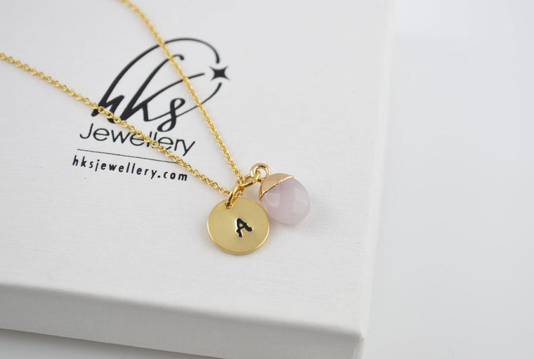 Rose Quartz Necklace Halskette