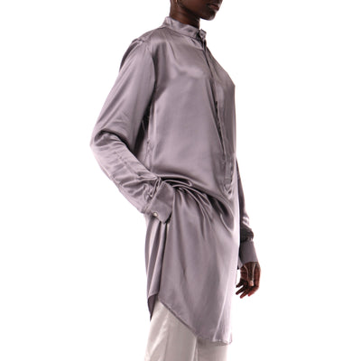 Pewter silk tunic