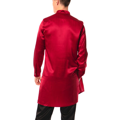 Ruby silk tunic